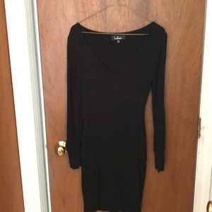 Lulu's long sleeve black dress